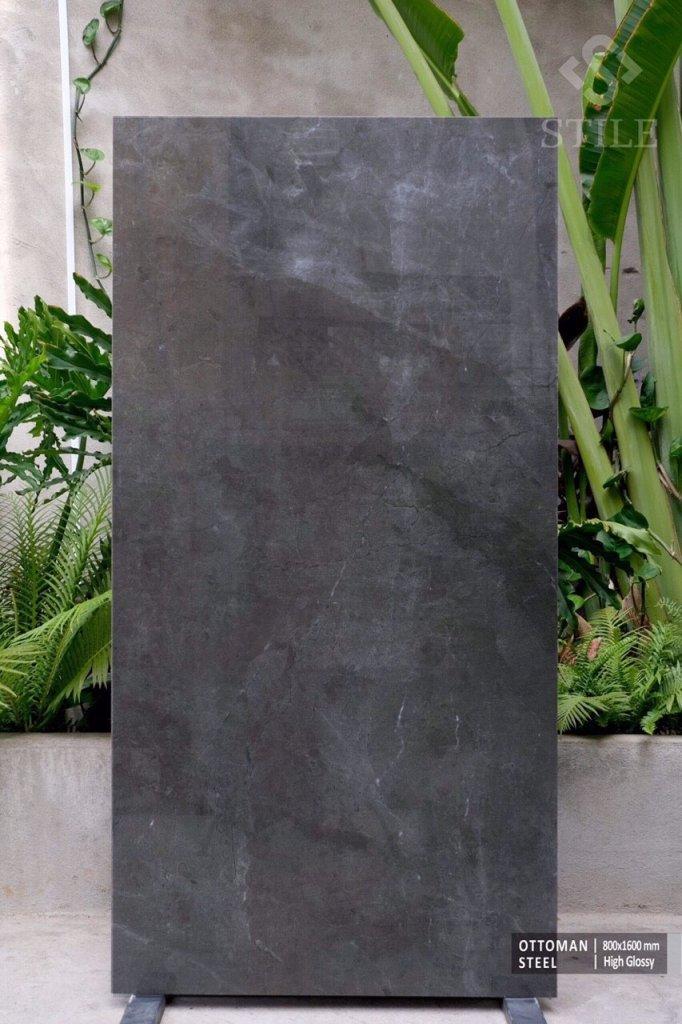 gạch 80x160 vân đá màu đen