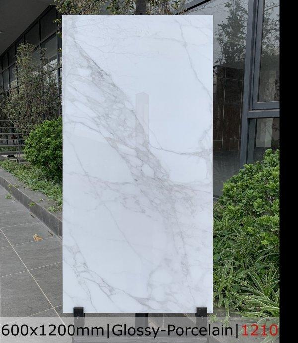 Gạch bóng kiếng trắng vân mây 60x120 Catalan 1210