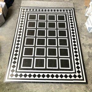 thảm gạch bông ô vuông lát nền